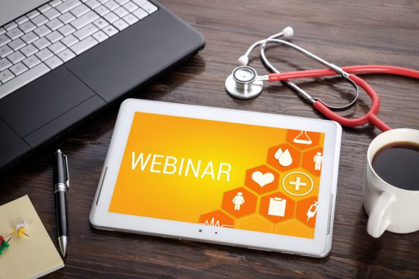 Webinar,On,Screen,Tablet,Pc,,Health,Concept.,Information,Technology,And